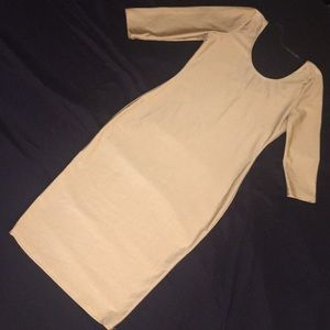 Dresses & Skirts - Champagne midi dress NEVER WORN scoop style